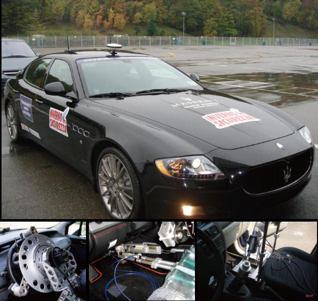 GPS控制车辆行驶试验用机器人